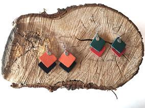 Boucles d'oreilles en cuir autres coloris