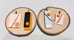 Pendentifs en verre - différents modèles disponibles - 22€ pièce