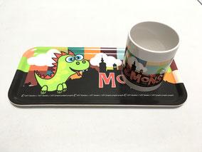"Plateau ""Dragon fun"" 32x15cm - 24€ (plateau seul) + 5€ pour mug assortie"