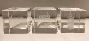 Set de 6 mini blocs en cristal - 110€ ou 130€