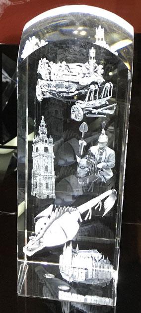 Bloc en cristal 5 sujets - 125€