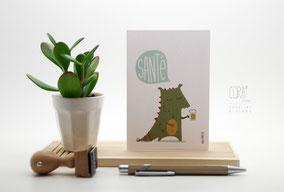carte postale dragon Mons Santé