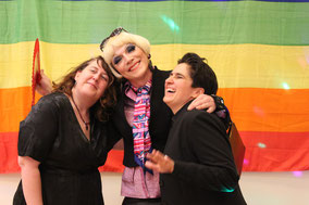 Alex, Lady Olivia & Denise vom letzten Queerball HH