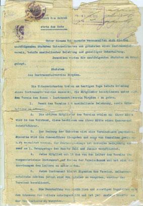 Satzung von 1914