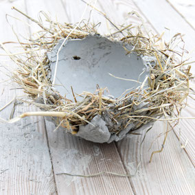 DIY concrete Easter nest bowl by PASiNGA tutorials