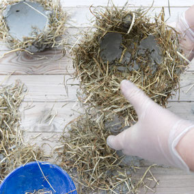 Un-moulding the DIY hay concrete Easter nest bowl by PASiNGA tutorials