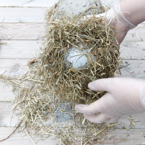 Concrete hay DIY Easter bowl by PASiNGA blog