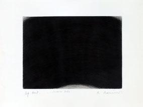 """Arnulf Rainer  """"Schwarzer Helm"""", ca. 1965, Radierung, 49 x 64 cm"""