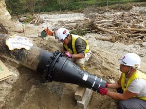 清水町 管水路復旧
