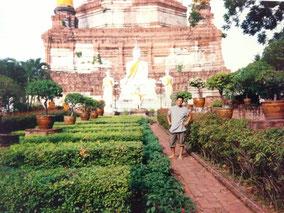 アユタヤはレンガの建物と仏像がたくさんあった