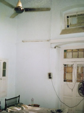 アムリトサルの宿 天井高い