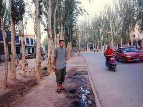 カシュガルの路上