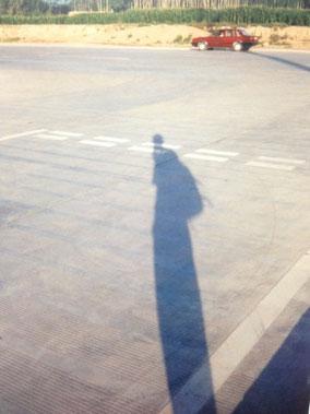 影 カシュガルの駅で