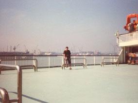 船に乗った いつ以来だろ 天津港