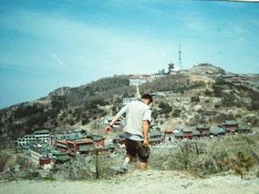 【済南】泰山の頂上に着いた
