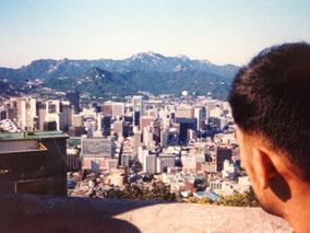 ソウルの街を見下ろす