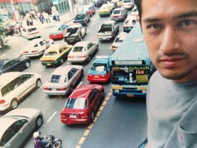 渋滞のバンコク