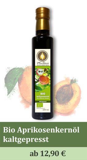 Bio-Aprikosenkernöl, bittere Aprikosenkerne, naturbelassen, kaltgepresst, Biologischer Anbau, Ölmühle, Speiseöle, Bio-Ölmühle, Kräuterölmühle