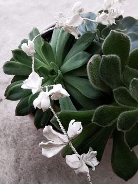Haarschmuck für die Braut, Haarband mit Blumen
