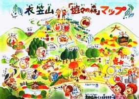 京都森林インストラクター会衣笠山 「遊々の森」マップ