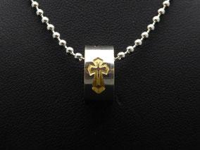MiniRing mit Goldkreuz
