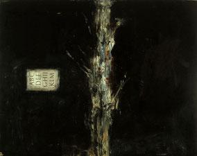 Matthieu van Riel. Trajaanse boom in Dacia 182x143cm olie en papier op canvas 1989