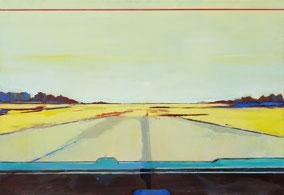 Matthieu van Riel. Schilderijen. Zonder titel 90x130cm olie op canvas 2018