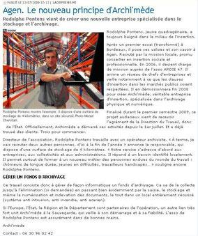 La Dépêche, le 13/07/2009