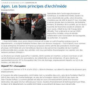 La Dépêche, le 01/06/2010