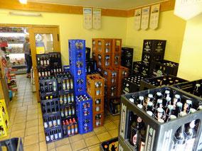 SB-Tankstelle - kleiner Getränkemarkt mit gutem Sortiment