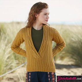 Laine Katia Merino Shetland Modèle Pull Femme