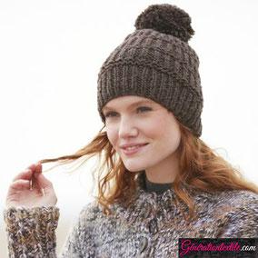 Laine Katia Merino Shetland Modèle Bonnet Femme