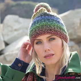 Laine Katia Azteca Degradé modèle Bonnet Femme