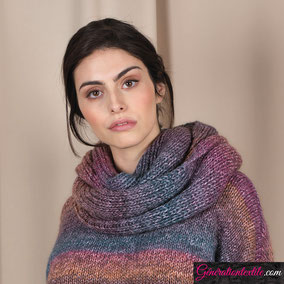 Laine Katia Azteca Degradé modèle Echarpe Femme