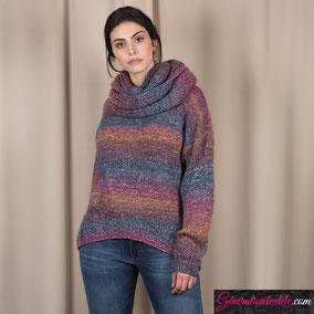 Laine Katia Azteca Degradé modèle Pull Femme