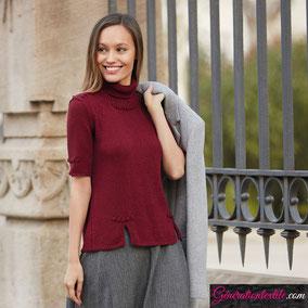 laine Katia collection Tencel-Merino modèle Pull à courtes manches