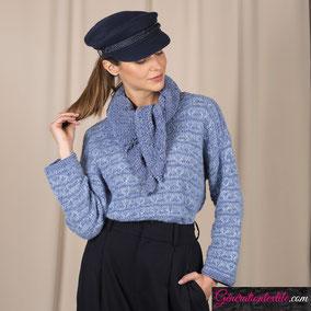 Laine Katia Velvert Fine modèle Pull Femme