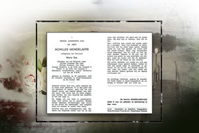 Achilles Mondelaers  28 oktober 1987