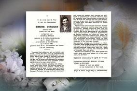Simonne Verdickt 13 maart 1992