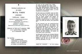Willy Vaes 15 december 1995