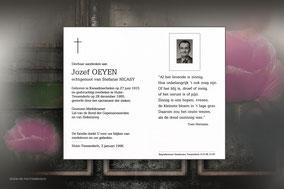 Jozef Oeyen 28 december 1995