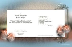 bidprentje van Maria Theys