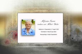 Bidprentje van Alfonsine Saenen
