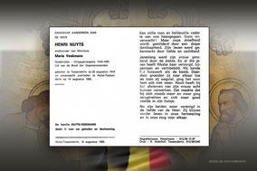 Henri Nuyts 14 augustus 1995
