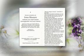 Irma Wouters 22 maart 1998