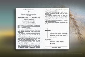 Henricus Schepers 15 januari 1970
