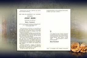 Jozef Bens 28 januari 1966