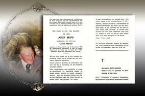Jozef Beets 12 september 1984-Jef van Stijn