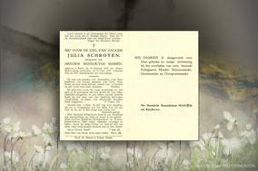 Julia Schroyen 30 juni 1949