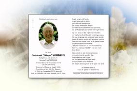 """Constant""""Stinus"""" Jordens 1 augustus 2001"""